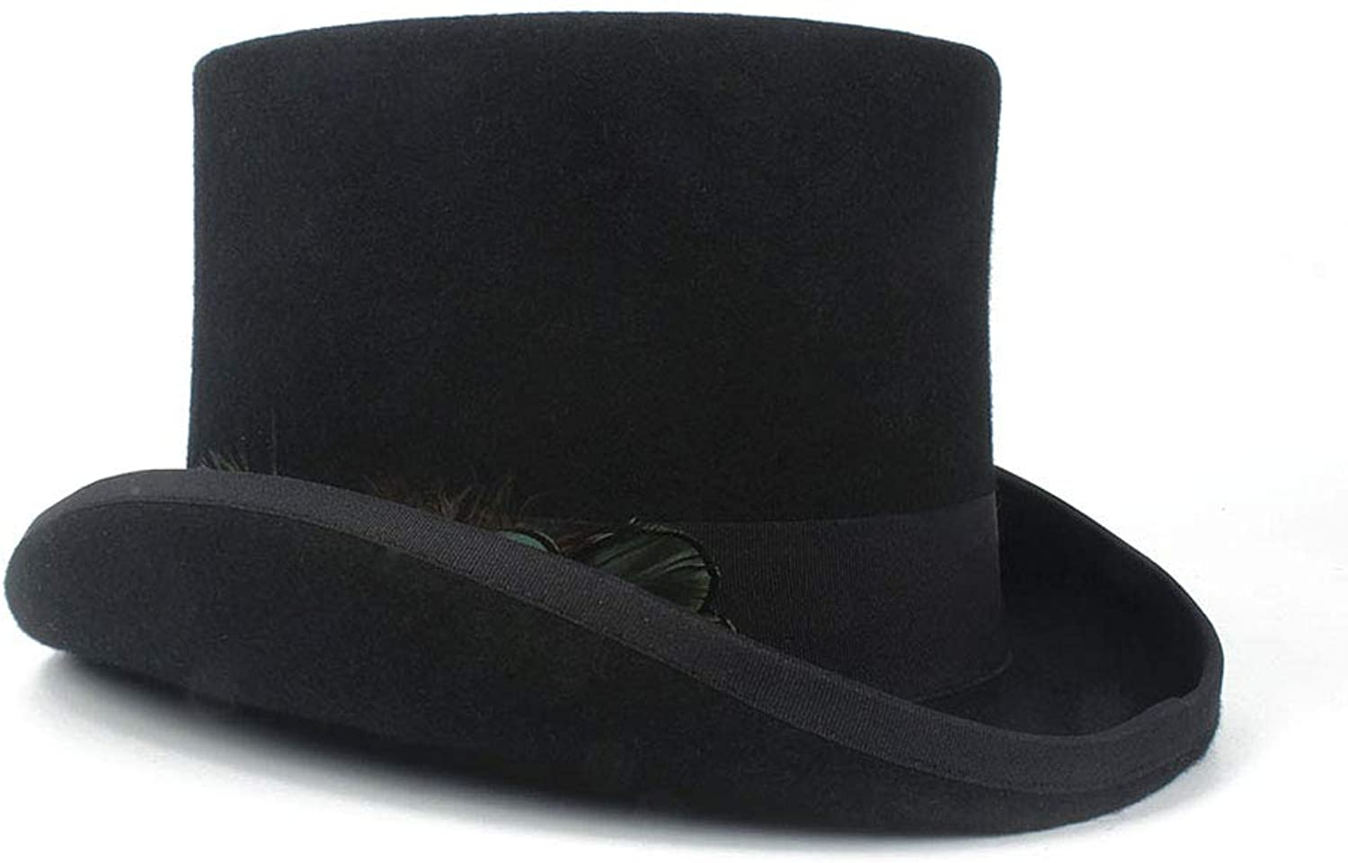 YUXUJ women's Top Hat Ladies Wool Fedora Magician Party Hat 4Size S M L XL 13.5 Cm (5.3 Inch)
