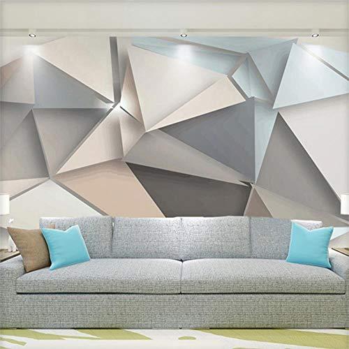 Arte abstracto moderno patrón geométrico 3D estéreo en relieve papel tapiz sala de estar cabecera restaurante Estudio Simple mural creatividad,250X175cm