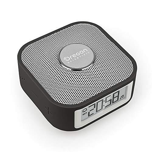 Oregon Scientific smarter Reisewecker mit Bluetooth-Lautsprecher und Freisprechfunktion für Smartphones