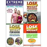 Extreme transformation and low carb and keto and slow cooker soup diet 4 books collection set