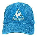 YeeATZ Le COQ Sportif Logo Stylish Casquette Amplification Unisex Old Wash Old Baseball Cap Metal Adjustable Cap,Cowboy Hat New
