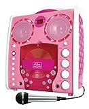 Singing Machine SML-383 Tragbarer CDG Karaoke-Player und 3 CD+Gs Party Packet rose -