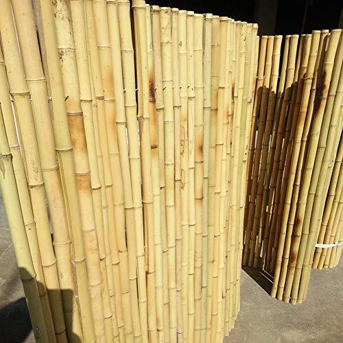 LSXIAO 天然竹プライバシースクリーン 竹垣 中庭の外観 防風 亜鉛メッキ鉄線接続 造園庭園、テラス、バルコニー (Color : Wood color, Size : 1.2x2m)
