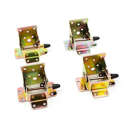 DiER 4Pcs Iron Locking Folding Table Chair Leg Brackets Hinge Self Lock Foldable Hinges Support Bracket