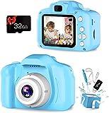 Fotocamera per Bambini, Fotocamera Digitale Ricaricabile da 2,0 Pollici per 1080P HD con Scheda TF da 32 GB Antiurto 5MP HD Video Giocattolo da Esterno per da 3-12 Anni