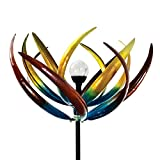Best Wind Spinners - The Original Solar Multi-Color Tulip Wind Spinner-Solar Powered Review