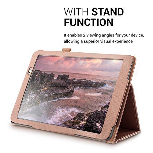 kwmobile Huawei MediaPad T1 10 Hülle - Tablet Cover Case Schutzhülle für Huawei MediaPad T1 10 - Rosegold mit Ständer - 6