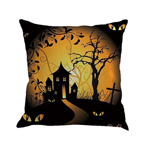 Kissenbezug Kolylong® Halloween Dekoration gedruckt Kissenbezug ( 45 x 45cm/ 18x18
