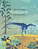 Carnet de croquis Dinosaures Compsognathus: Cahier de Dessin pour Enfant, Grand Format,120 Grandes pages blanches | 20,32 cm x 27,94 cm, croquis esquisses Schémas. (French Edition)