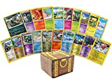 100 Assorted Pokemon Cards Beginner Set: Features 10 Reverse Holos, 90 Additional Cards and Pokemon Play Instructions – All Cards are Authentic – Includes Golden Groundhog Treasure Chest Storage Box!