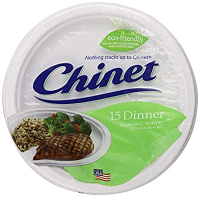 Chinet Premium 10-Inch Paper Platters, 24-Count Packs (Pack of 4)