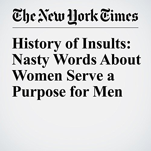 History of Insults: Nasty Words About Women Serve a Purpose for Men audiobook cover art