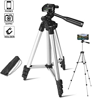 Geeky Bit™ Tripod for Mobile Phone Camera, Tripod for Mobile Phone Stands for Video Recording, Phone Camera Stand for Mobile Shooting TIK Tok, | Pack of 1 - Silver -1 Year Warranty