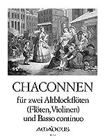 HABERT A. - Chaconas para 2 Flautas de Pico Alto (2 Violines) (2 Flautas) y Piano