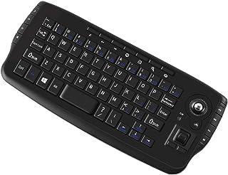 2.4Ghzワイヤレストラックボールキーボードマウスセット HTPCマルチメディアキーボード トラックボールエアマウス 無線 Android TV Box/スマート TV/PCノートブック Mac のリモートコントロール ブラック