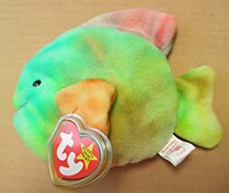 TY Beanie Babies Coral the Fish Stuffed Animal Plush Toy - 6 inches long - Multi-color by Smartbuy