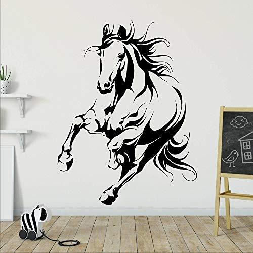 Fuerte Correr Caballo Corcel Animal Etiqueta de la pared Vinilo Arte de la pared Calcomanía Etiqueta engomada del coche Unicornio Mascota Vaquero Sala de estar Dormitorio Oficina Club Decoración
