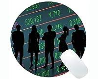 カスタマイズされた丸いマウスパッド、Money Business Capital滑り止めラバーベースマウスパッド