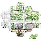 36 Piezas Pegatinas de Espejo de Pared Hexagonales de Rombo, Pegatinas de Pared...
