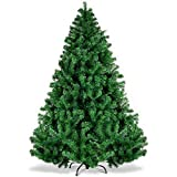 Árbol de Navidad de Pino Artificial de 300 cm y 10 pies con Soporte, Puntas de PVC ignífugas 100% Virgen de 300 cm y 10 pies Árbol de Navidad para decoración navideña, fácil Montaje