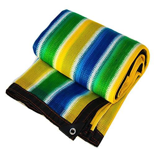 GFBHD Toldos Malla Resistente a los Rayos UV Rayas Malla De Sombra  95% Tasa De Sombreado Espesó Ribete De Malla  para La Protección UV Marquesina Exterior (Color : A, Size : 3x3m)