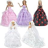 RUNNAN 5PCS Robe de mariée pour Doll