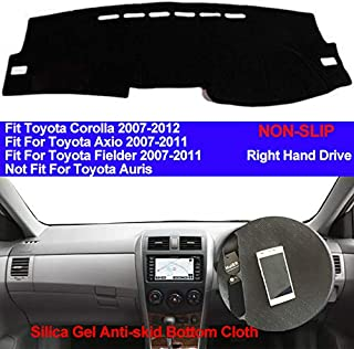 XIANGFA Car Dashboard Cover Silicone Non-Slip For Toyota Corolla Axio Fielder 2007 2008 2009 2010 2011 Dash Mat ANti-UV Carpet