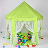 YXYSHU Chica Plegable Princesa Pink Castle Tents Playhouse Ball House Niños...