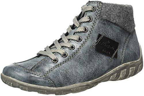 Rieker Damen L6540 High-top, Blau (ozean/granit/Schwarz/14), 38