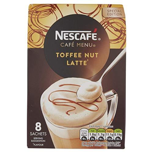 Nescafé Cafe Menu Toffee Nut Latte 8 Sachets 19,5g (156g)