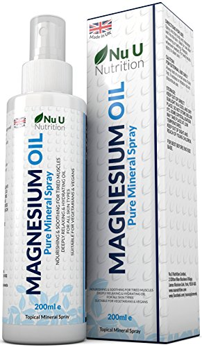 Magnesium Oil Spray 200ml | Pure Mineral Spray from Zechstein Magnesium Chloride | 800 Sprays - Twice The Size of COMPETING Brands | Light & Hydrating Muscle Rub Magnesium Spray for All Skin Types