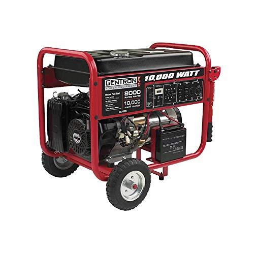 Gentron GG10020, 10000 Watt Gas Powered Portable Generator with Electric Push Start for Home Emergency Power Backup, RV Standby, Hurricane Storm Damage Power Restoration, EPA Certified -  6610020