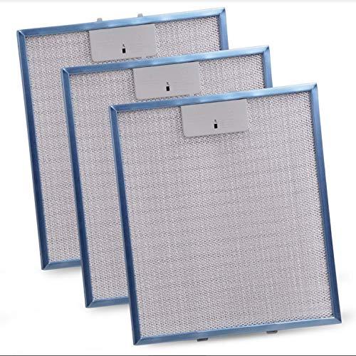 Fettfilter 3x Metallfettfilter Ersatz für Whirlpool Bauknecht 480122102168 Indesit C00314158 Metallgitterfilter 305x267mm Metallfilter Dunstabzugshaube Filter