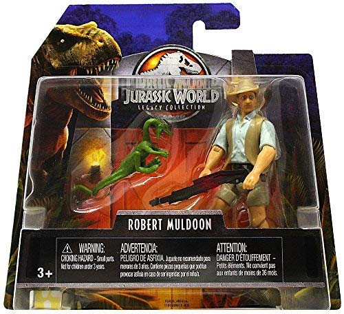 Robert Muldoon & Compie Jurassic World Legacy Collection Posable Figure 3.75 2018