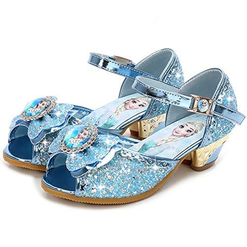 New front Zapatos de Princesa Niñas Bailarina Sandalias Festivo Tacón Disfraz de...