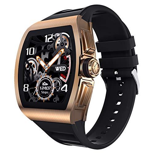 1,4-Zoll-Smartwatch-Blutdruck- und Herzfrequenzmesser IP68 Wasserdichter Voll-Touchscreen-Uhr Fitness-Tracker Multifunktions-Sportuhr Weibliche Funktion Anruf- und Nachrichtenerinnerung