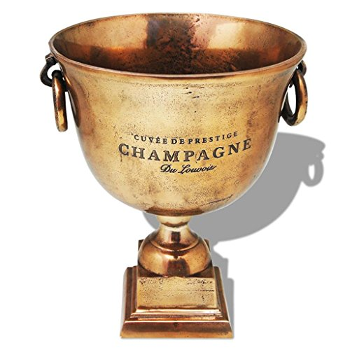vidaXL Champagner-Kühler Weinkühler Sektkühler Sektkübel Deko Pokal Kupfer Braun