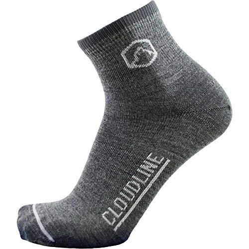 CloudLine Merino Wool Ultra Light Quarter Crew Socks