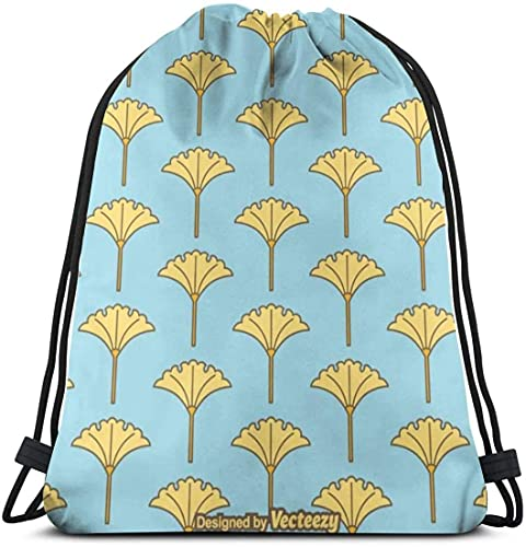 Ahdyr Free Ginko Pattern Gym Bag Travel Mochila con cordón Hombres Mujeres Bolsa de deporte Bolsa de almacenamiento portátil