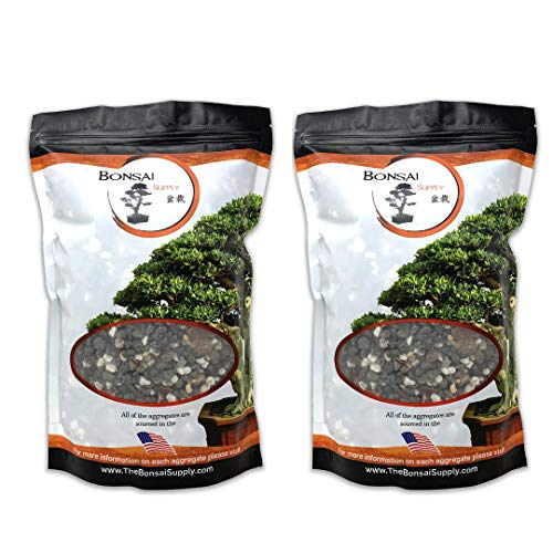 Bonsai Soil All Purpose Mix | Fast Draining Pre Blend Plant | Pumice, Lava, Calcined Clay and Pine Bark ● Potting Pre Mixed Bonsai Plant Soil Mixture by The Bonsai Supply 4 Quarts