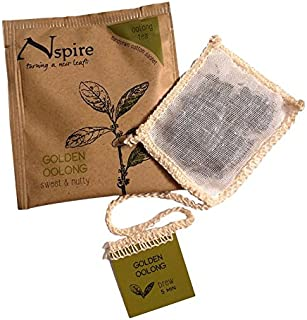 Nspire by Numi Organic Tea Golden Oolong, 50 Count Box of Tea Bags (Packaging May Vary)