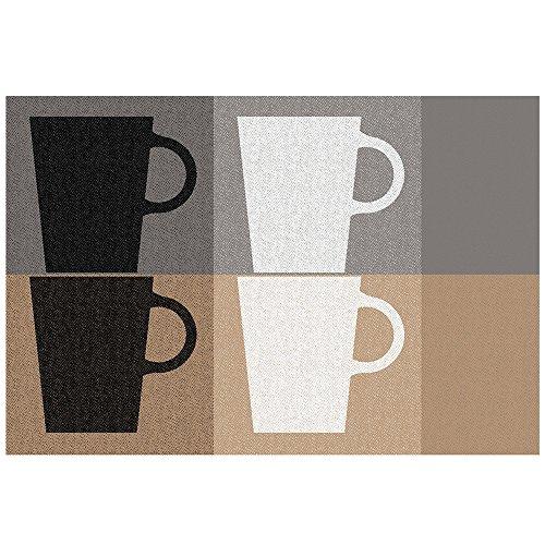 Kela 11750 Tasses Set de table Plastique Noir 43,5 x 28,5 x 1 cm