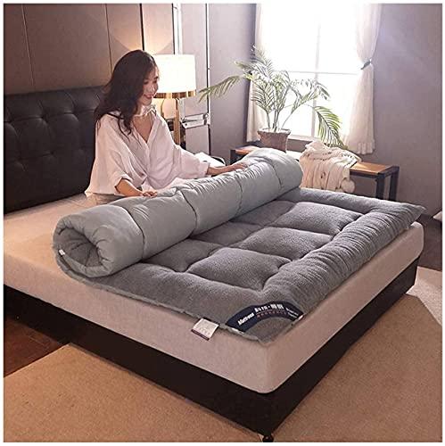 DOOGL Colchón de futón plegable para cama doble, tamaño king, tamaño king, tamaño grande, tamaño King