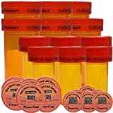 TimerCap - Stopwatch Cap Pill Organizer and Bottles, Medication Reminder (12 Pack 6 - Wide Mouth + 6-1.6 oz Containers) - EZ -Twist