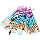 Brocha De Maquillaje 20pcs diamond makeup brushes set powder Foundation Blush Blending Eye shadow Lip Cosmetic Beauty Make Up Brush LightBlue