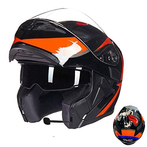 Casque moto hommes et femmes casque de moto anti-buée (Couleur : B-L(58-59cm0)