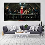 Glxbooc Battlestar Galactica Poster Last Supper Poster Painting On Canvas Bedroom Wall Art Decoration Pictures Home Decor40x80cm-No Frame