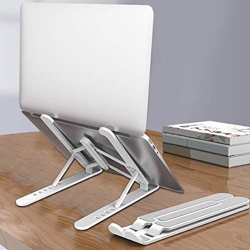 【2020最新進化版】ノートパソコンスタンド pcスタンド 6段の高さ調節可能 折りたたみ式 軽量 持ち運び便利 放熱対策 ABS素材 Macbook/iPad/ノートPC/タブレットなど7.9~17インチまでに対応(ホワイト)