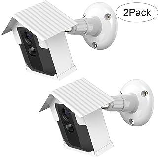 Soporte de Montaje en Pared BECEMURU Techo y Estabilidad a Prueba de Intemperie Protector Ajustable de Cubierta para el Caso de la cámara Blink XT (Blanco 2 Paquete)