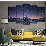 yangwuju Matterhorn Schweiz Gemälde 5pcs Printd auf Leinwand Kunst Modern Home Wall Art HD